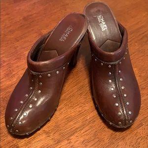 Michael Kors Leather Clogs